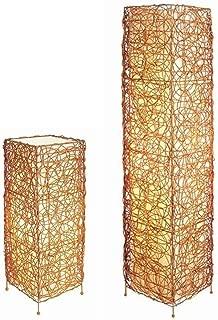 ORE International 31138TF Rectangle Rattan Lamp Set, 48