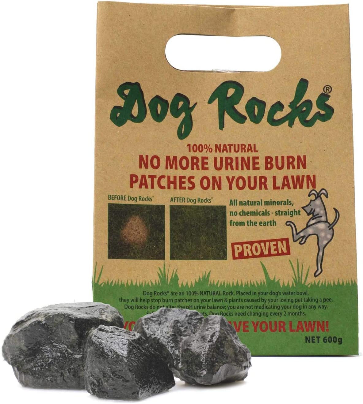 Photo de dog-rocks-urvent-patch-contre-les-traces-durine-de-chien