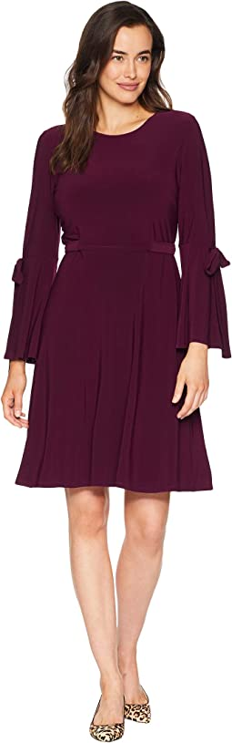 Ity 3/4 Sleeve Fit & Flare Dress w/ Bow Detail