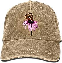 Presock Gorras De Béisbol Flower Butterfly Denim Hat Adjustable Unisex Plain Baseball Hats
