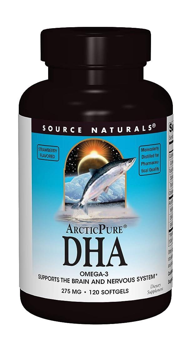 バーマドイル楽しむ海外直送品 Source Naturals Arcticpure Dha, (strawberry) 120 Sftgls 250 mg