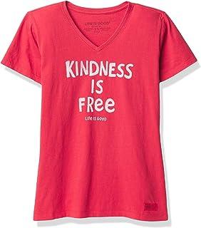 LIFE IS GOOD Women's Standard Crusher V-Neck Graphic T-Shirt