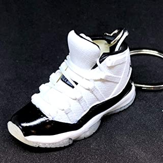 Air Jordan XI 11 High Retro Concord Black White Sneakers Shoes 3D Keychain 1:6 Figure