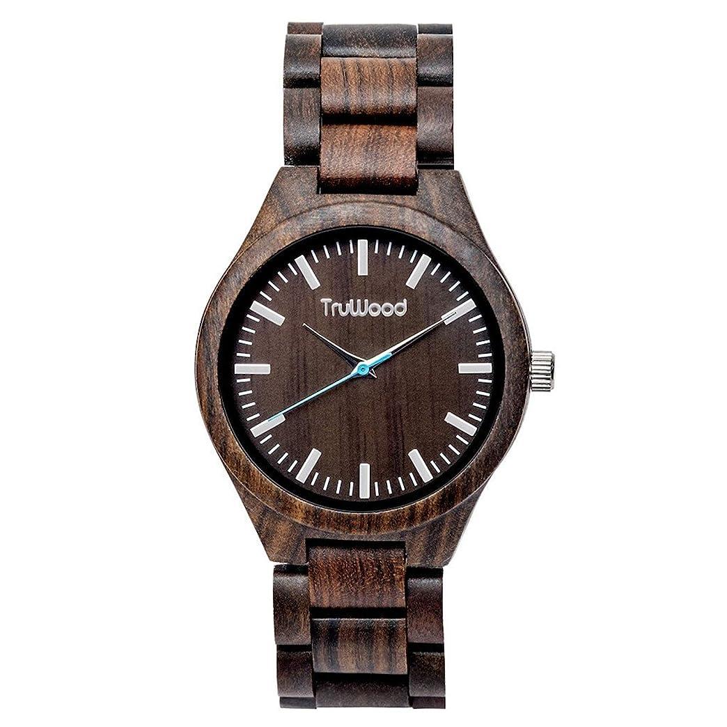 割るメロディアス判定[(トゥルーウッド) truwood] [truwood ウッドブラック Hawk Watch Wood Black Sandalwood Total Wood Belt] (並行輸入品)
