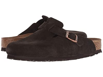 Birkenstock Boston Soft Footbed (Unisex) (Mocha Suede) Clog Shoes