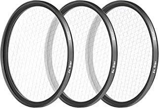 Neewer 52MM 3 Pieces Points Star Lens Filters Kit for Nikon D3300 D3200 D3100 D3000 D5300 D5200 D5100 D5000 D7000 D7100 DSLR Camera, Made of HD Glass and Aluminum Frame Material (Black)