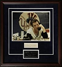Billy Martin Autographed Signed Notarized Sheet Framed Photo NY Yankees Rare Auto Authentic