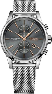 Hugo Boss Men's Silver Chronograph Quartz Watch With Stainless Steel Bracelet - 1513440, Analog Display