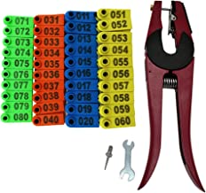 400PCS Sheep Ear Tags Kit with Ear Tag Applicator Plier Livestock Identification marker Animal Management Tool