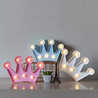 NYRWANA DELIVERING SMILES IN INIDA Crown Shaped Marquee LED Light Wall Decor Battery Operated (White)