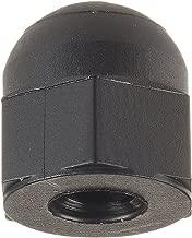 Nylon 6/6 Acorn Nut, USA Made, Black, 10-32 Thread Size, 23/64