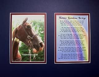 McDarlins Calligraphy Horse's Rainbow Bridge Matted Poem for Horse Lovers Sympathy Bereavement Memorial Keepsake Gift