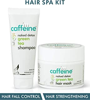 mCaffeine Green Tea Hair Spa Kit | Hair Fall Control, Hair Strengthening | Shampoo, Hair Mask | All Hair | SLS & Silicone Free