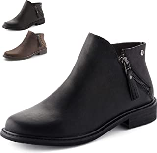 Parfeying Ankle Boots, Waterproof Booties, Memory Foam Insole, Non-Slip Rubber Sole, Womens Casual Shoes, Leather Lining (L10130)