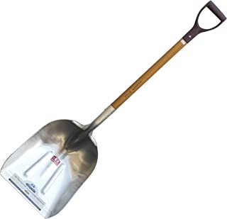 FOREST HILL Super Tuff - The Ultimate Shovel Manufacturing Aluminum Straight Edge Scoop Shovel (.125 Thick Aluminum, 52-Inch)
