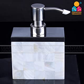 Thsinde Lotion & Liquid Dispenser Soap Bottle, Ceramic Soap Dispenser for Bathroom Kitchen Countertop