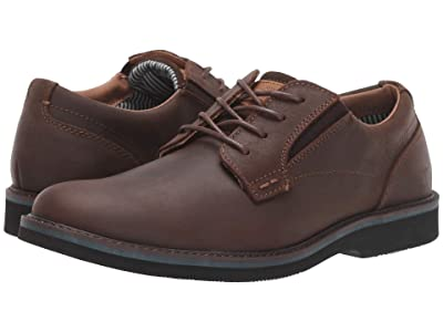 Nunn Bush Barklay Plain Toe Oxford (Brown Crazy Horse) Men