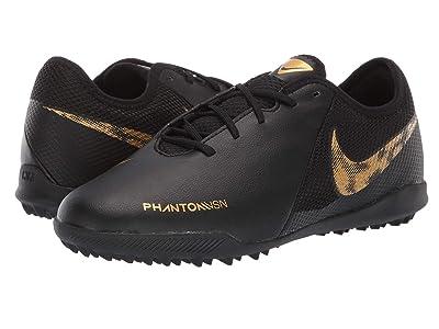 Nike Kids Phantom Vision Academy TF Soccer (Little Kid/Big Kid) (Black/Metallic Vivid Gold) Kids Shoes