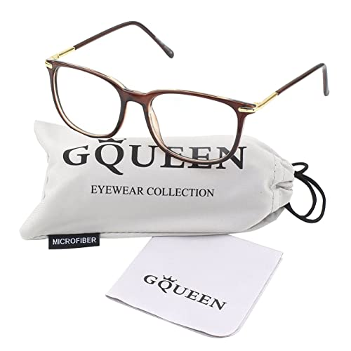 c320bbf0bacb GQUEEN Fashion Keyhole Metal Temple Horn Rimmed Clear Lens Glasses PN2
