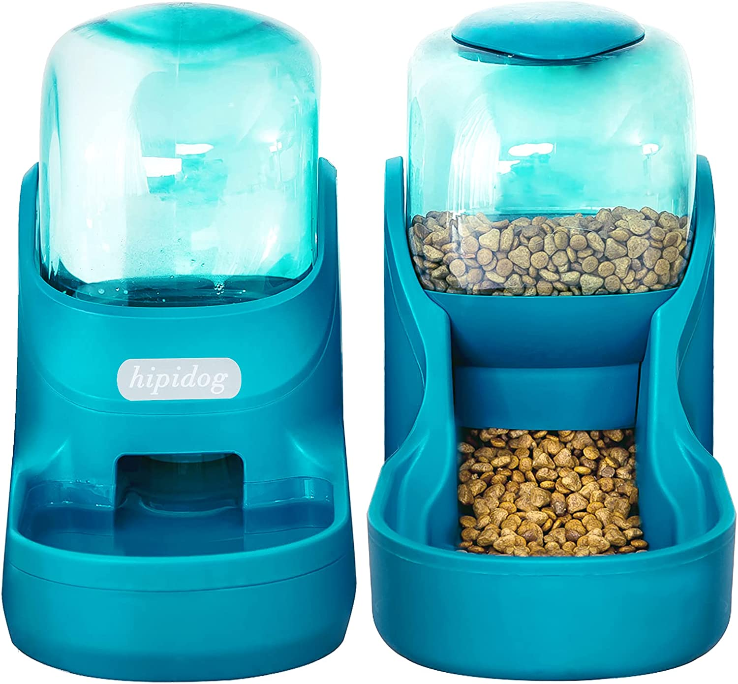 Dogs Cats Automatic Feeder,Small Medium Big Animals Automatic Pet Feeder Set Pet Automatic Water Dispenser and Food Bowl Set,3.8L