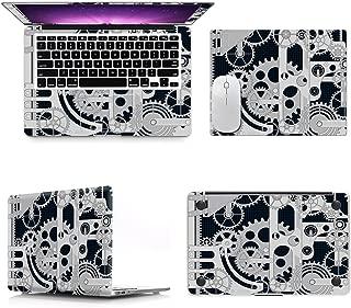E-COAST】New MacBook Pro 13インチ 2016 新しいMacBook Pro Touch Bar搭載モデル専用本体保護シート 蓋&底面&リストシール&トラックパッド保護フィルム マウスパッド付き キズ防止 全保護タイプ (機械)