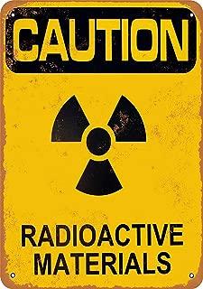 Bidesign 8 x 12 Metal Sign - Vintage Look Caution Radioactive Materials