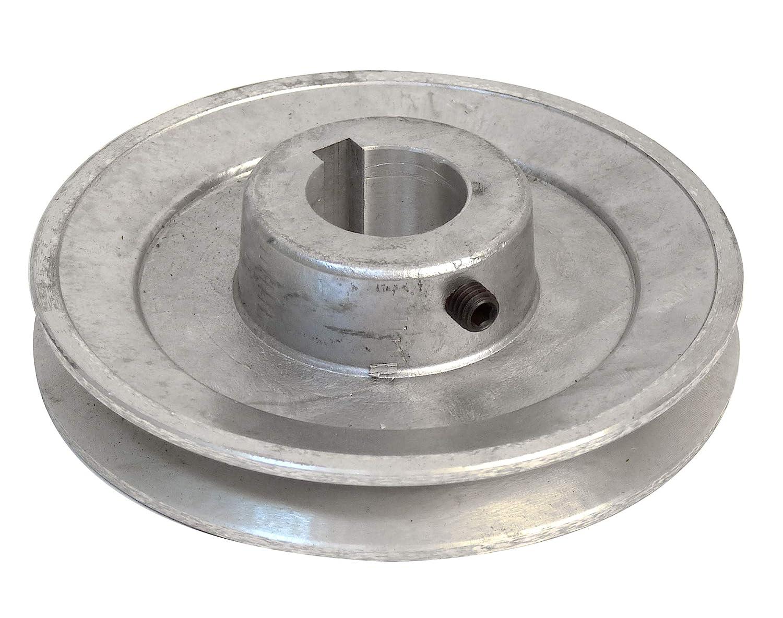 Fartools 117260 - Polea (aluminio, 120 mm, calibre: 24 mm), Negro