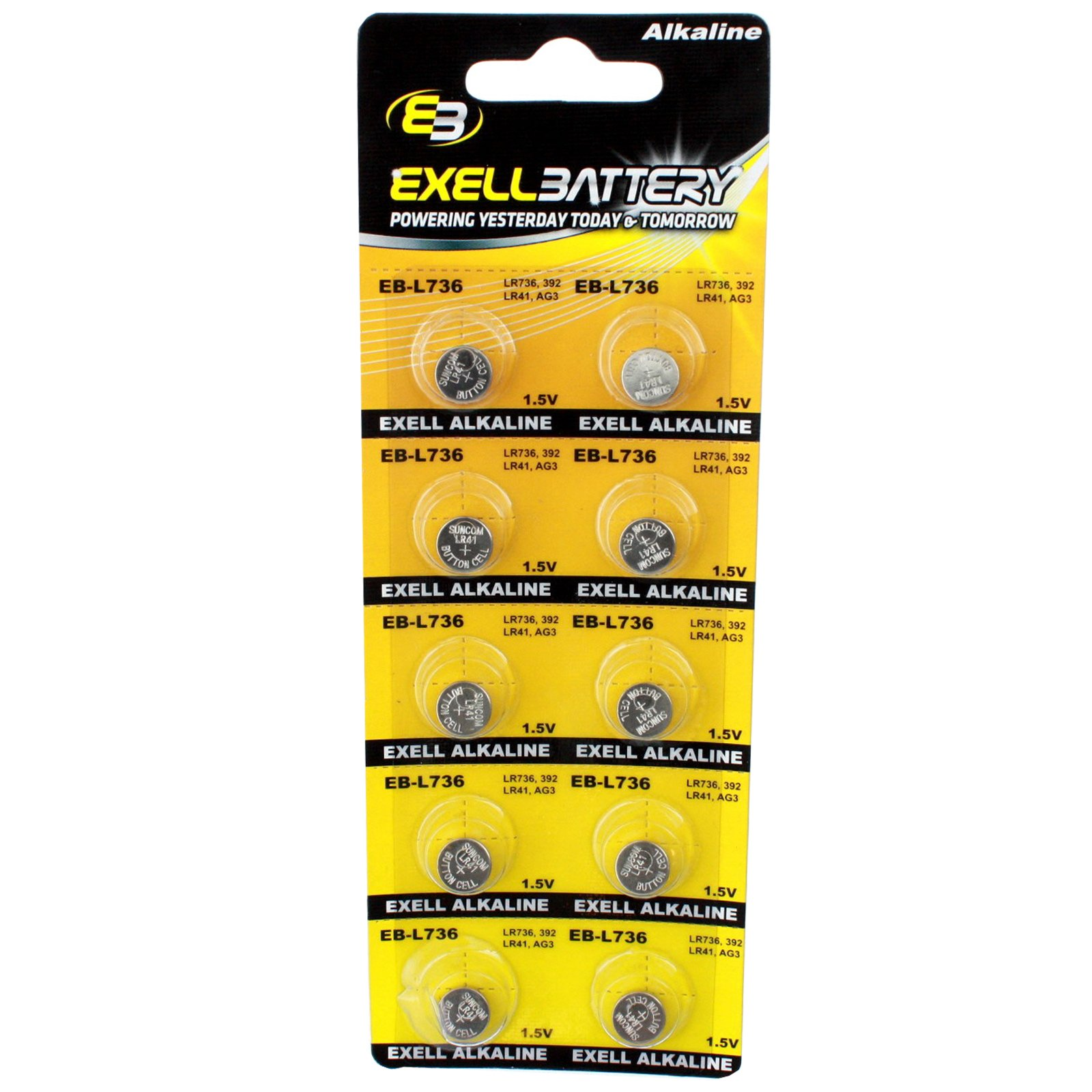 Cheap 10pk Exell EB-L736 Alkaline 1.5V Watch Battery Replaces AG3 LR41 392 Black Friday & Cyber Monday 2019