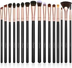 BESTOPE Eye Makeup Brushes, 16 Pcs Professional Eye Brush Set Cosmetics Brushes, Eye Shadow, Concealer, Eyebrow, Foundation, Powder Liquid Cream Blending Make Up Brushes with Premium Wooden Handles