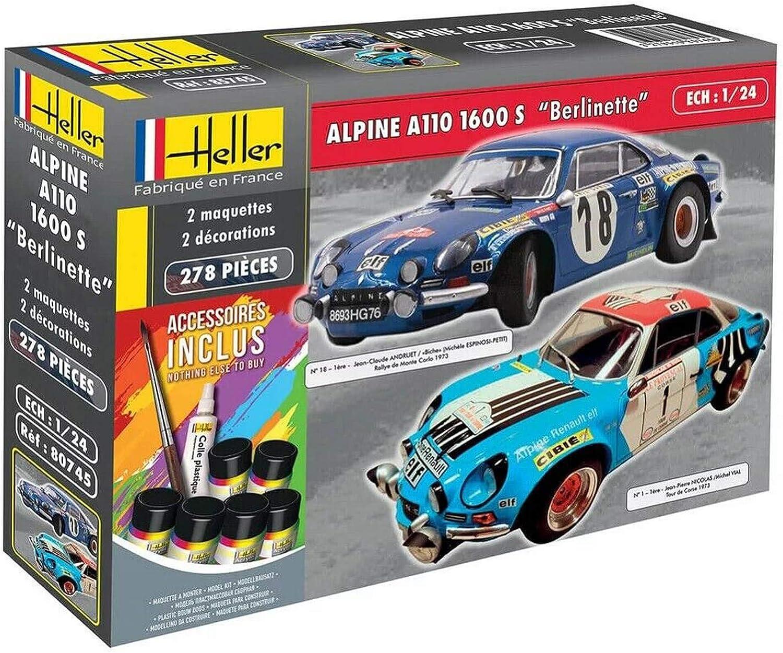 Heller Coffret 2 maquettes voiture   Alpine A110 1600S