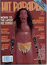 Hit Parader Magazine TED NUGENT Warren Zevon PAUL McCARTNEY CENTERFOLD Journey JUDAS PRIEST Robert Plant DEF LEPPARD November 1982 C (Hit Parader Magazine)