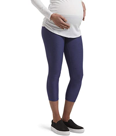 HUE Under Belly Soft Knit Maternity Capris (Royal Blue) Women