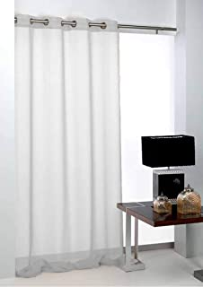 Export Trading Basic Curtain, Polyester, White, 140 x 265 cm