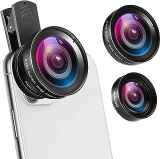 Criacr 5 in 1 Phone Camera Lens Kit 2X Zoom Telephoto Lens + 198° Fisheye Lens (Type-4)