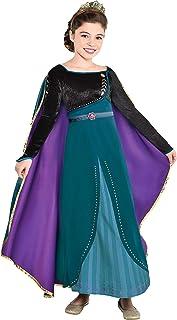 Party City Disney Frozen 2 Epilogue لباس هالووین آنا برای کودکان شامل لباس ، شلوار استرچ ، برای تظاهر به بازی