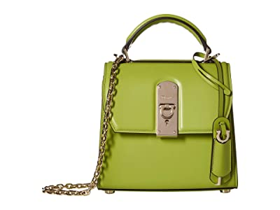 Salvatore Ferragamo Boxy Mini Top-Handle (Absinthe) Handbags