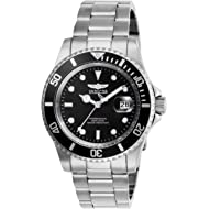 Men's Pro Diver Quartz Watch with Stainless Steel Strap, Silver, 20 (Model: 26970)