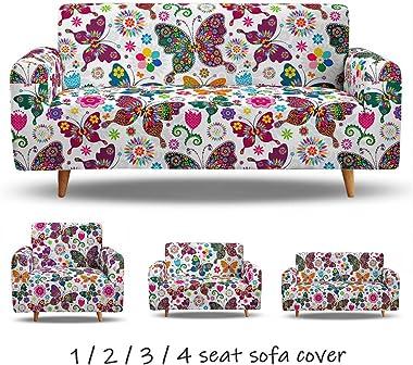 Housses de Canapé Imprimé Extensible, Morbuy 3D Animal Revêtement de Canapé avec Accoudoirs Sofa Elastique Couverture Fauteui