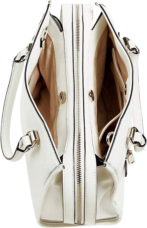 Guess - Sac à main femme avec bandoulière en simili cuir Lias charm (hwvg7670060) taille 24 cm Blanc