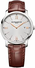 Baume and Mercier Classima Silver Dial Brown Leather Ladies Watch MOA10147