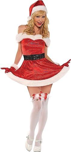 Amscan 841085 Christmas Costume Weißnachtskostüm, Polyester, Rot Weiß