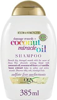OGX Shampoo, Olio Miracoloso di Cocco, per Capelli Secchi Dannegiatti o Crespi, 385 ml