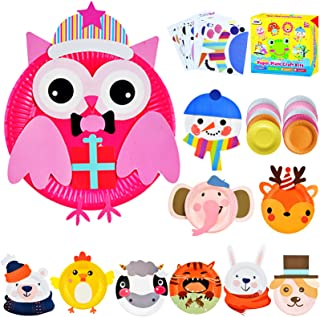 ZMLM Arts Crafts Toy Gift: Paper Plate Kit for Kids DIY Art Supplies Project Children Preschool Classroom Party Favor Acti...