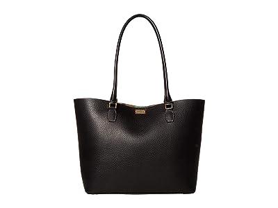 Frances Valentine Medium Trixie Tote (Black) Handbags