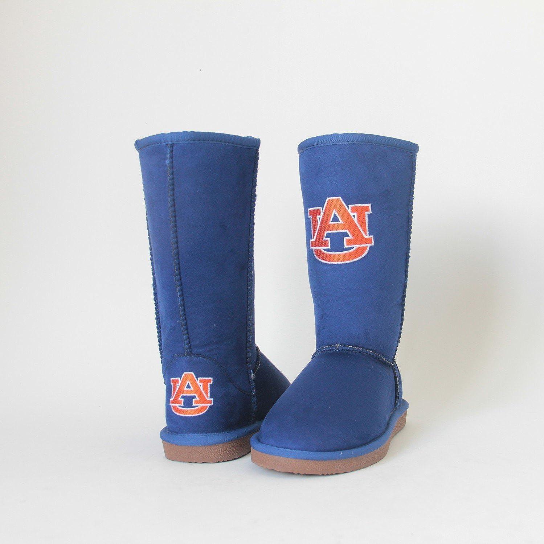 NCAA Auburn 70% OFF Outlet Tigers Women's 6 Boots overseas Varsity Navy