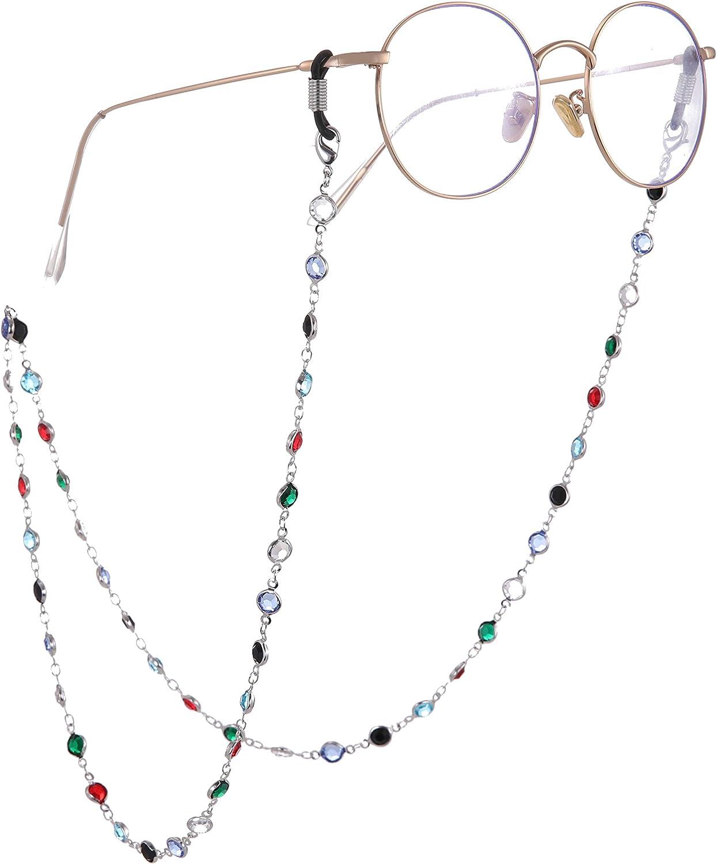 LIKGREAT Indianapolis Mall Big Ranking TOP9 Shiny Rhinestone Eyeglass Chain Sung for Women Cord