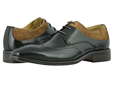 Stacy Adams Hewlett Wing Tip Oxford (Olive/Tan) Men