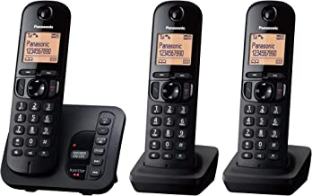 Panasonic KX-TGC223EB DECT Cordless Phone with Answering Machine, 1.6 inch Easy-to-Read Backlit Display, Nuisance Call Blo...