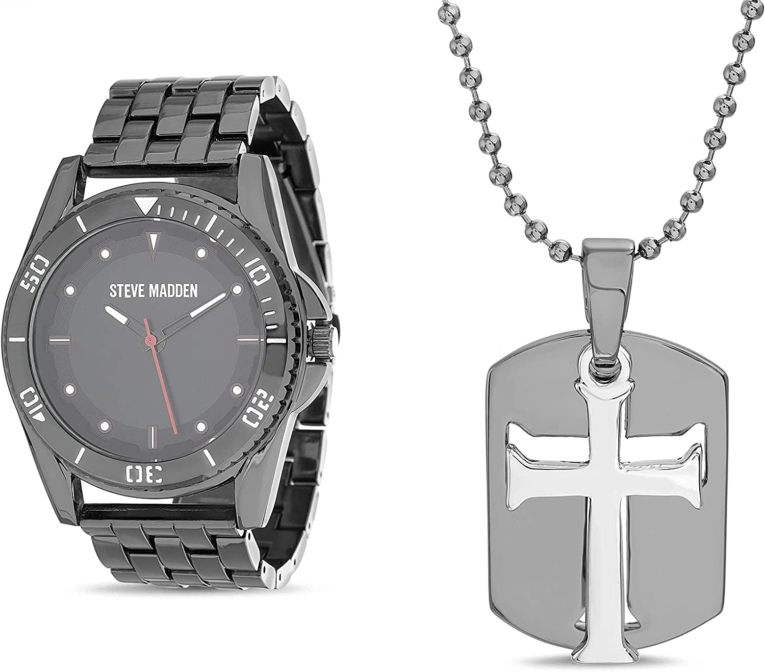 Steve Madden Link Watch Directly Max 79% OFF managed store Dog Tag Necklace Pendant Two Men Pie for