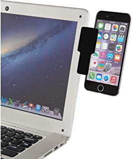 xcivi Phone Tablet to Laptop Clip/Connect Laptop Clip/Laptop Side Mount/Duo Screens Mount for Laptop and Monitor (Black - ...